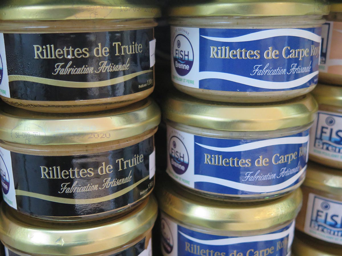 Production artisanale de rillettes de truites-carpes