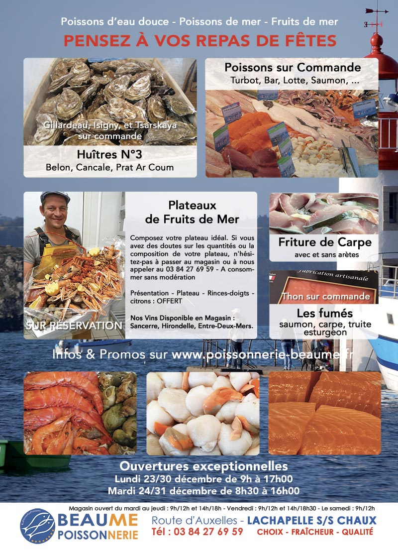 Tract de Noel 2019 - poissons, crustacés, fruits de mer